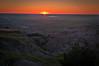Sunrise over the Badlands.