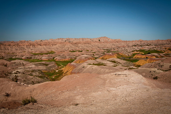 Eroded buttes with its pinnacles and spires shot in multiple exposures to capture hues, colors and contrasts.