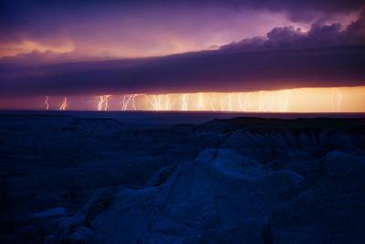 4 Minutes of a Lightning-Spewing Thunderstorm, Badlands National Park
