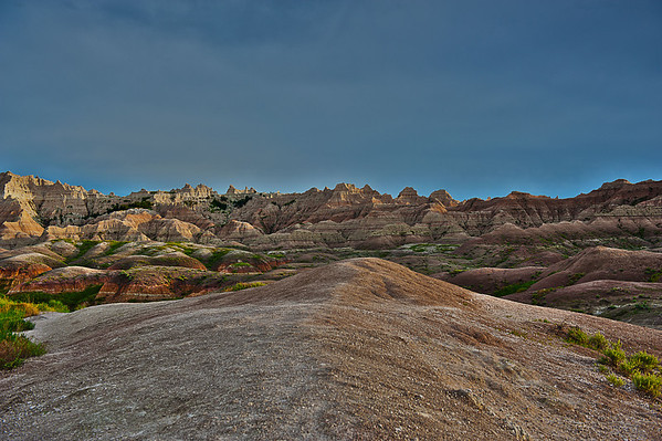 Eroded buttes with its pinnacles and spires and their dynamic shades of color.