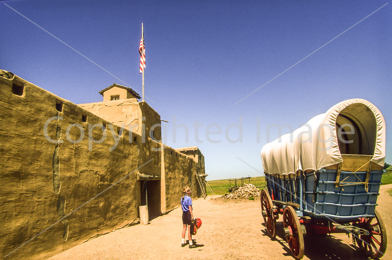 Cyclist at Bent's Old Fort National Historic Site - 2 - 72 ppi