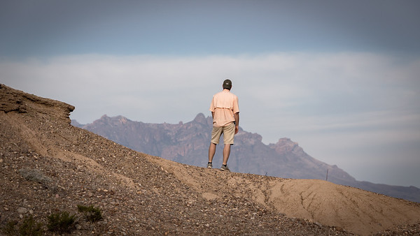 Gazing at the Chisos Mountains