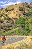Thin-tire cyclist at Black Cyn of the Gunnison, Colorado - 4 - 72 ppi