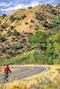 Thin-tire cyclist at Black Cyn of the Gunnison, Colorado - 4 - 72 ppi