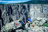 Cyclist at Colorado's Black Canyon of the Gunnison - 9-2 - 72 ppi