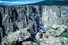 Cyclist at Colorado's Black Canyon of the Gunnison - 9-2 - 72 ppi