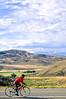 Thin-tire cyclist at Black Cyn of the Gunnison, Colorado - 3 - 72 ppi
