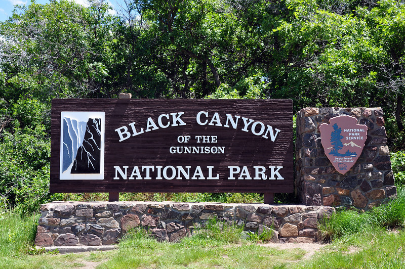 Black Canyon of the Gunnison National Park entrance