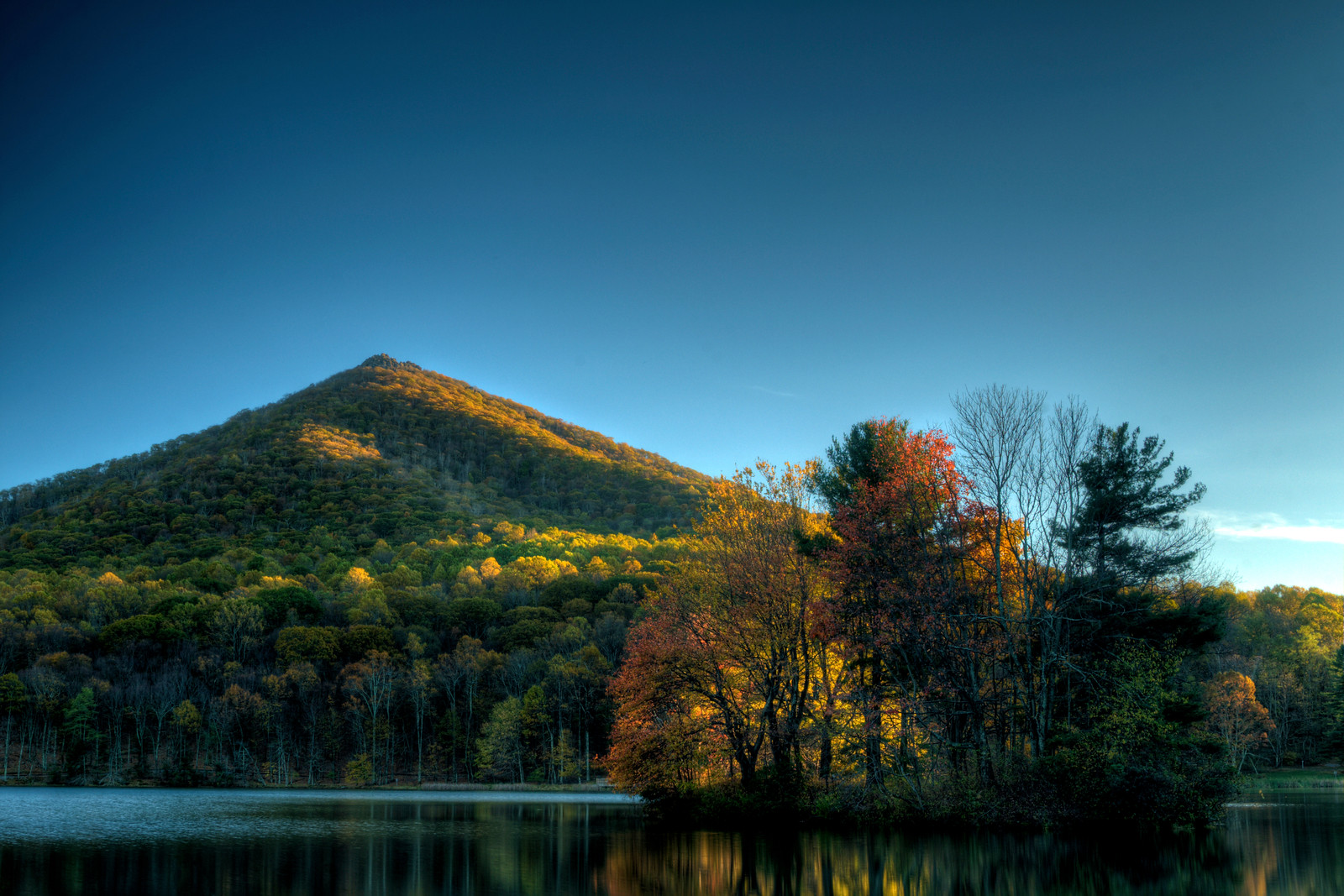 Peaks of Otter on the Blue Ridge Parkway in VA