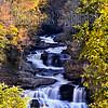 "Cullasaja Falls, located in the Nantahala National forest in Macon County, North Carolina.  Cullasaja consists of long cascades and numerous falls approximately 200 feet in height.  This fall can be seen from the roadside on US 64 west of Highland.  According to ""Great Water Falls of North Carolina, written by Neil Regan the best spot for photographing this fall is from the road, that the descent to the base is steep and does not yield the best shot so we opted to shoot from the road.  Nikon D600 with a Nikon 80-200mm f/2.8 lens set to a focal length of 100mm.  Taken at 8:32AM on 10/13/2012.  Aperture f/16, Shutter Speed, .5 seconds, and ISO 200.  Polarizer and tripod.  It should be pointed out although I like to shoot waterfalls at slow shutter speeds, it is not necessary to shoot at the speeds I choose.  You can still get a smooth or cotton candy look but with more detail of the water at speeds between 1/10 to 1/30 of a second.  It all depends on the amount of and force of the water going over the falls or cascades."