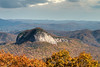 Looking Glass Rock on the Blue Ridge Parkway in NC