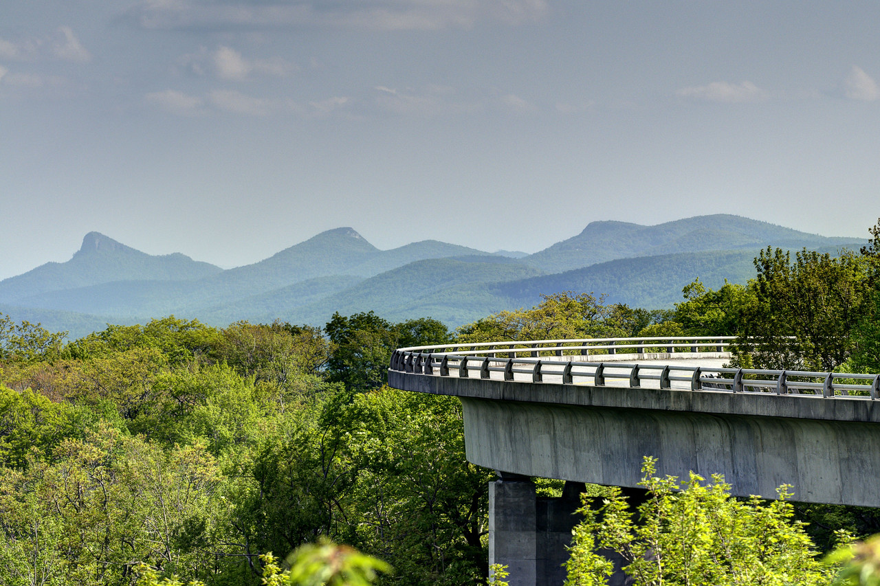 The Linn Cove Viaduct at Milepost 304.4 on the Blue Ridge Parkway in NC on Wednesday, May 29, 2013. Copyright 2013 Jason Barnette