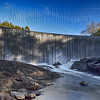 Sequoyah Lake Dam.  This was the last picture of the day.  It is a man made waterfall created by the creation of a reservoir or lake for the local residences of Highland, North Carolina.  The day for us was coming to an end and the light was right and its construction, leaving the rock formation at its base, made for a beautiful waterfall.  Taken at 4:30PM on 10/13/2012 with a Nikon D600, and 24-70mm lens with a focal length of 27mm. Aperture at f/16, shutter speed was long at 2.0 seconds, and ISO at 100.  I used a lower ISO to allow me to stop down the shutter speed to 2.0 seconds.  Due to the high contrast I set the metering for matrix.  Matrix metering is the Nikon terminology for hallowing the camera to average all the light and dark areas within a scene.