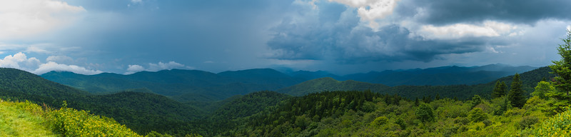 Cowee Mountain Storm Panorama