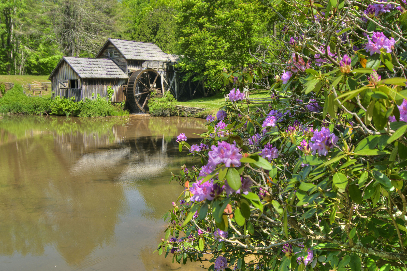 Milepost 176 - Mabry Mill on the Blue Ridge Parkway in VA