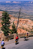 Cyclists at 8300' Bryce Point in Bryce Canyon Nat'l Park - 1 - 72 ppi