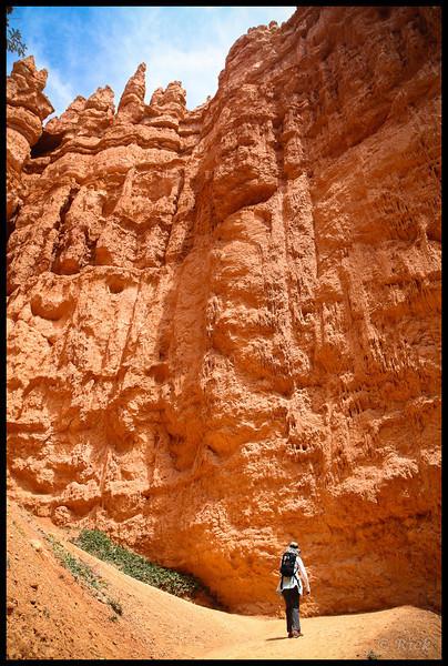 Hiker in Bryce Canyon National Park, Utah