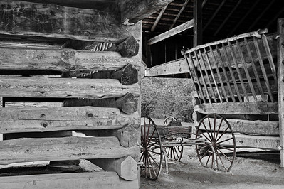 Barn Interior at the Dan Lawson Farm