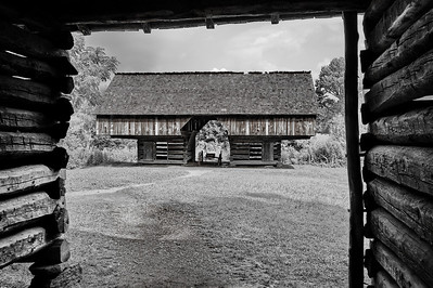 View of the Cantilever Barn from the Tipton Cabin