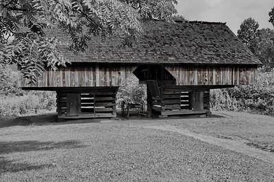 Cantilever barn Tipton Place  Camera: Nikon D3s, 24-85mm f2.8 lens, Moose Peterson Circular polarizing + warming filter, Gitzo tripod + Arca Swiss ball head; ISO at 200, Manual Exposure Mode, Manual Focus