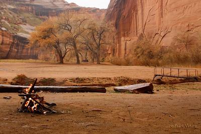 Canyon campfire