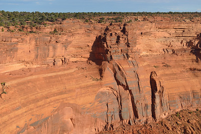 Cliffs on Canyon Side of Dead Horse Point Overlook