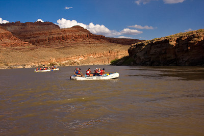 Outward Bound Rafters on the Colorado River, near Moab, Utah