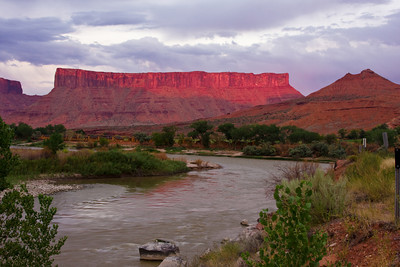 Dry Mesa from the Colorado River, near Moab, Utah