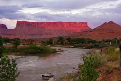Dry Mesa from the Colorado River, near Moab, Utah