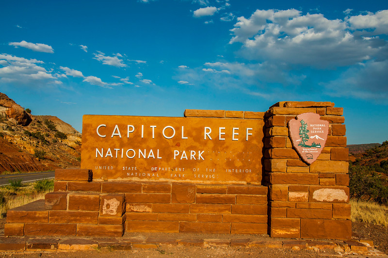 Capitol Reef National Park entrance