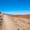 The trail climbs
