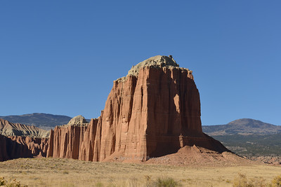 Monolith in Cathedral Valley