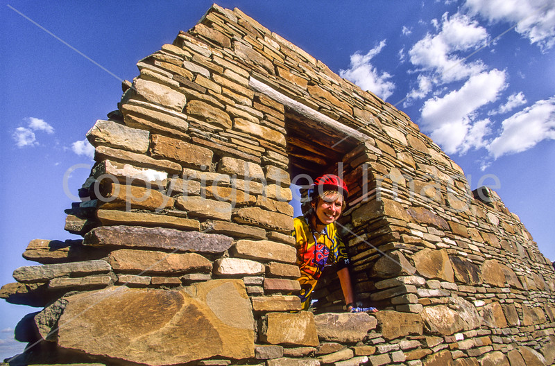 Cyclist at Chaco Culture Nat'l Historical Park, New Mexico - 1 - 72 ppi