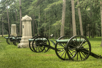 Canons on display along the road in Chickamauga & Chattanooga National Military Park in Fort Oglethorpe, GA on Thursday, July 23, 2015. Copyright 2015 Jason Barnette