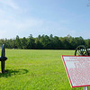 The auto tour - First stop was the area of Solocomb's artillery battery. On September 20, 1863 nearly 600 rounds were fired from this position to support the initial Confederate assault. The metal plates provide details of the action. Red represents Confederate and blue represents Union.