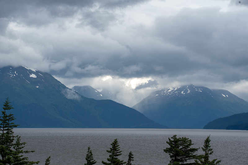 Alpenglow on the Turnagain Arm