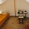 Officer's tent - Continental Army encampment.