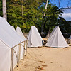 A row of tents - Continental Army encampment
