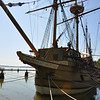 The 'Susan Constant' vessel - recreated - One of three that set sail for Virginia in 1606 with 105 colonists.