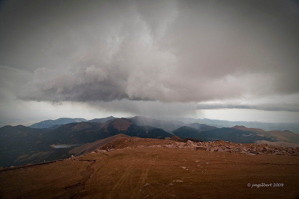 Pikes Peak Summit.  The air was thin, very thin, and it showed while we where there.