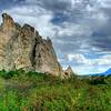 Garden of The GODS, Colorado.  HDR using three shot exposure, Pentas K-20, 21mm lens, 1/200, f/4, ISO 100.
