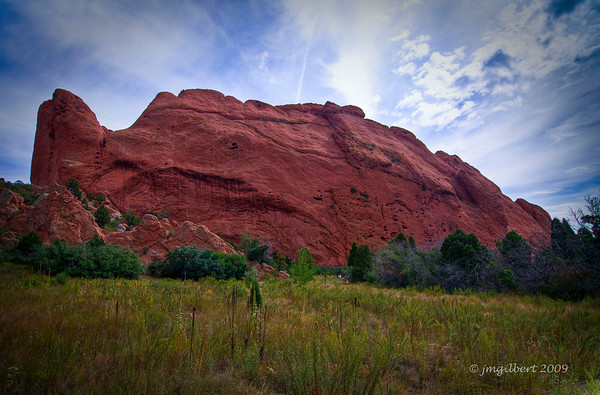 Another of many red rock formations in Garden of Gods Park.