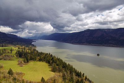 Columbia River Gorge on a Spring Day