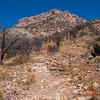 Rocky trail at the base of Montezuma Peak