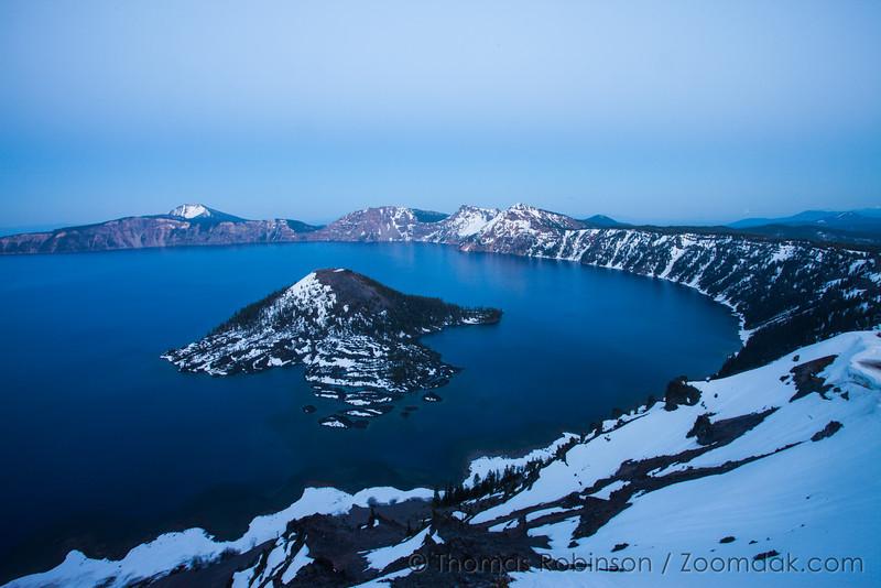 Twilight at Crater Lake, Oregon