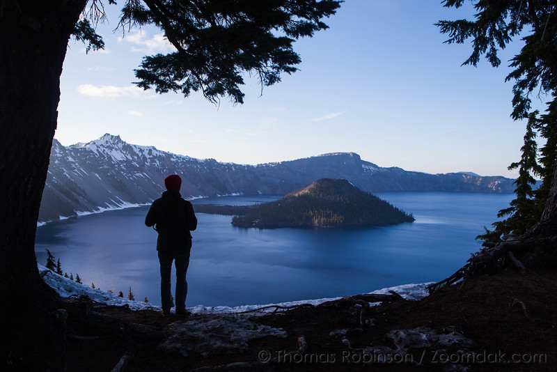 Crater Lake Silhouette