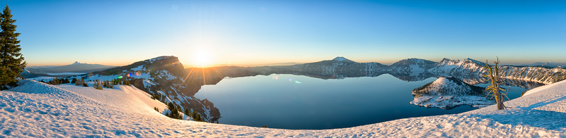 Crater Lake Sunrise Pano - Crater Lake-2