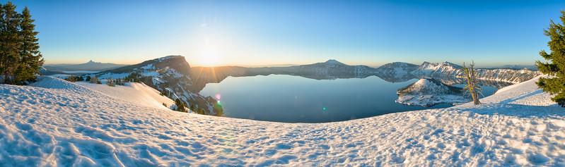 Crater Lake Sunrise Pano - Crater Lake