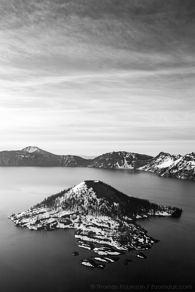 Crater Lake Black and White