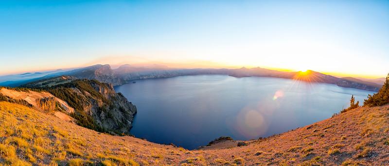 Crater Lake Sunset Panorama - Crater Lake-2
